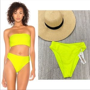 NWT Frankie's Bikinis Jenna High Waist Bottom
